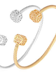 U7® Cute Girl Bracelet Fashion Jewellery 18K Gold/Platinum Plated Luxury Rose Flower Cubic Zircon Cuff Bracelet