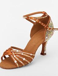 Zapatos de baile (Marrón) - Danza latina/Salsa - No Personalizable - Tacón Luis XV