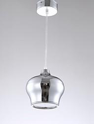 12w llevó droplight chapado plata de la forma de linterna de color comedor llevó luces colgantes ac85-265v