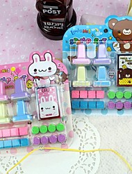 20PCS Kids Rabbit And Bear Shape Set Rubber Stamps