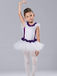 Kids' Dancewear Dresses Children's Spandex Tulle Short Sleeve