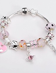 Silver Plated Glass Bead Bracelet