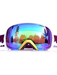 BASTO Golden Frame Green Sensor Skiing Snow Goggles