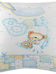 set di 3 cute baby modello velluto dell'orso copertura del cuscino decorativo