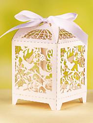 12 Piece/Set Favor Holder - Cubic Card Paper Favor Boxes Delicate Birds Laser Cut