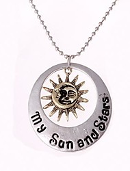 Women's  Fashion Moon and the Stars Necklace(1ps)