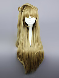 Cosplay Wigs Cosplay Kotori Minami Golden Long Anime Cosplay Wigs 80 CM Heat Resistant Fiber Female