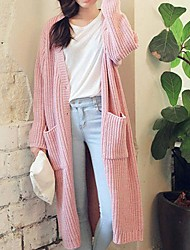 Women's Blue/Pink/White Cardigan , Casual Long Sleeve
