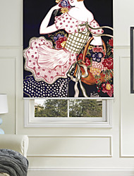 A Woman Selling Flowers Roller Shade
