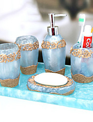 baño de juego de accesorios, estilo contemporáneo taza continental Conjunto 5 piezas