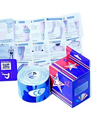 Blue Camouflage Kinesiology Kintape 5cm x 5m (DL brand box + Sports protection manual inside)