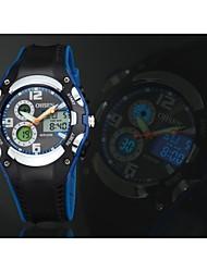 OHSEN Pánské Sportovní hodinky Křemenný LED Kalendář Chronograf Voděodolné Silikon Kapela Luxusní Černá Bílá Modrá Červená žlutáBílá