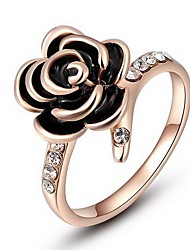 Women's Roxi Exquisite Rose-Golden Plated Rose Statement Rings(1 Pc)