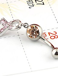 Body Piercing Jewelry Bow Bell Button Rings Random Color