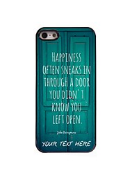 caso de telefone personalizado - caso design de metal porta para iPhone 5 / 5s