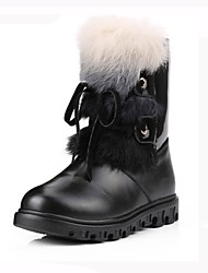 Girls' Shoes Fashion Boots Flat Heel Mid-Calf Boots with Rabbit Fur More Colors available