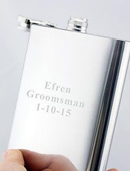 Personalized Gift Silver 18oz Stainless Steel Hip Flask