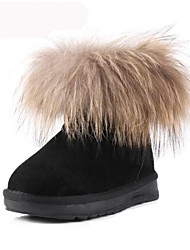 Girls' Shoes Snow Boots Flat Heel Ankle Boots with Artificial Fur More Colors available