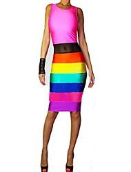 moda vestido magro das mulheres