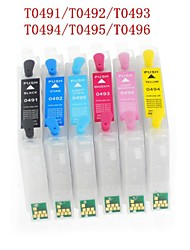 Bloom® t0491-t0496 navulbare inktpatroon voor Epson Stylus Photo R210 / R230 / R310 / R350 / rx510 / rx630 (6 kleuren 1set)