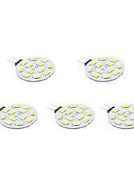 2W G4 Focos LED 12 SMD 5630 170 lm Blanco Cálido AC 12 V 5 piezas