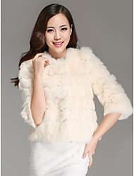 Fur Coats Women's Basic Model Of Rabbit Hair Spoke Fur Jacket(More Color)