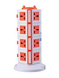 protecteur de surcharge 5v / 2.1a 4 étage avec 15 prises universelles et 2 ports USB barrettes d'alimentation de l'adaptateur uk