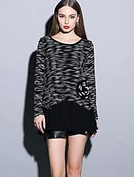 Women's Round Collar Fashion Loose Knitwear Dresses