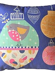 -birds Feliz Natal e ringtones almofadas decorativas com inserção