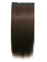 clip di capelli sintetici di vendita caldo di estensione dei capelli per la bella ragazza di 22 pollici di colore 6