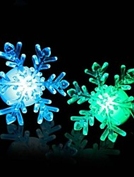 coloré forme de flocon de neige de changement de couleur Night Light LED