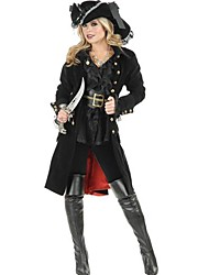 Cosplay Costumes / Party Costume Pirate Festival/Holiday Halloween Costumes Black Patchwork Dress / Belt / Hat Halloween FemaleCotton /