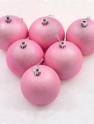 6 Pcs a Box 5cm Christmas Balls, Christmas Decoration Christmas Tree Ornament