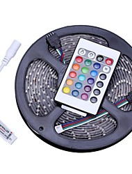 Non Waterproof 5M 300x3528 SMD RGB Light LED Strip Lamp with 24-Button Remote Controller Set (12V)