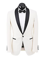 White  Solid   Silm Fit  Suit  Jacket    In  100%  Wool