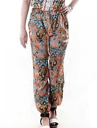 pantalones de impresión de la gasa de la moda de las mujeres