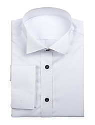White Cotton Solid Shirt
