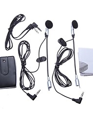 Motorcycle Helmet to Helmet Intercom Set 2 Headsets MP3 Input