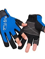 Cycling Anti-skidding Two Full Finger Multi Colors Chloroprene and Chinlon Gloves