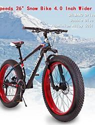 """27 velocidades llantas 26 """"x 17 * 4.0 pulgadas de ancho plana OBK ™ aluminio nieve moto grasa bicicleta playa marco de aleación de bicicleta"""