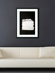 Framed Art Print, People Thomas 3 Baby Lying in Towel by Tanya Hovey