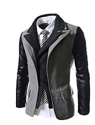 la mode manteau col de revers mince de Johnny hommes