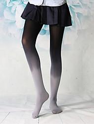 club meisje zwarte&grijze geïsoleerde fluwelen gothic lolita kousen