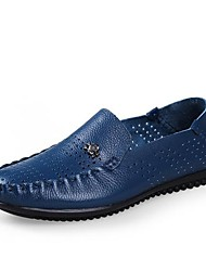 Men's Shoes Casual Leather Loafers Black/Blue/Brown/Khaki