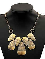 Women's National Wind Multi-level Alloy Necklace