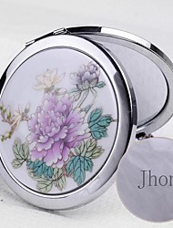Personalized  Silver Ceramic Painting Cosmetic Mirror