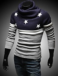 Men's The High Collar Embroidery Star Sweater