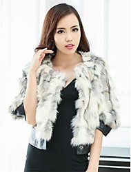 Fur Coats Women's Cross Tiger Brief Paragraph Fox Fur And Leather Imports Jacket