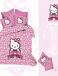 Bettbezug-Set, 3D Cartoon Kid Bettwäsche-Sets Heimtextilien Bettbezüge flaches Blatt Kissenbezüge aus 100% Baumwolle billig