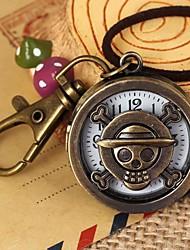 Mulheres Relógio de Bolso Relógio de Moda Quartzo Lega Banda Vintage Bronze marca